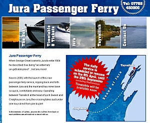 Jura Ferry Website