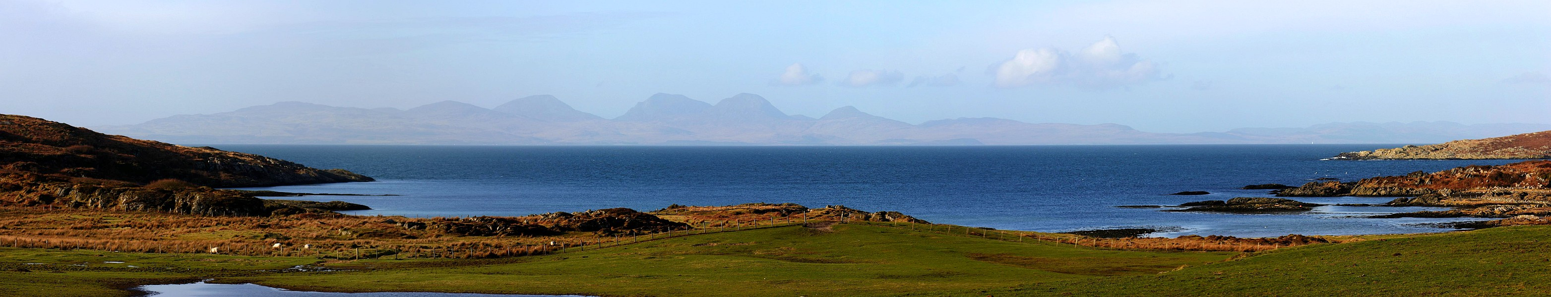 Isle of Jura Seen from Isle of Gigha Panorama Picture