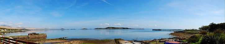 Small Isles Bay Isle of Jura Panorama