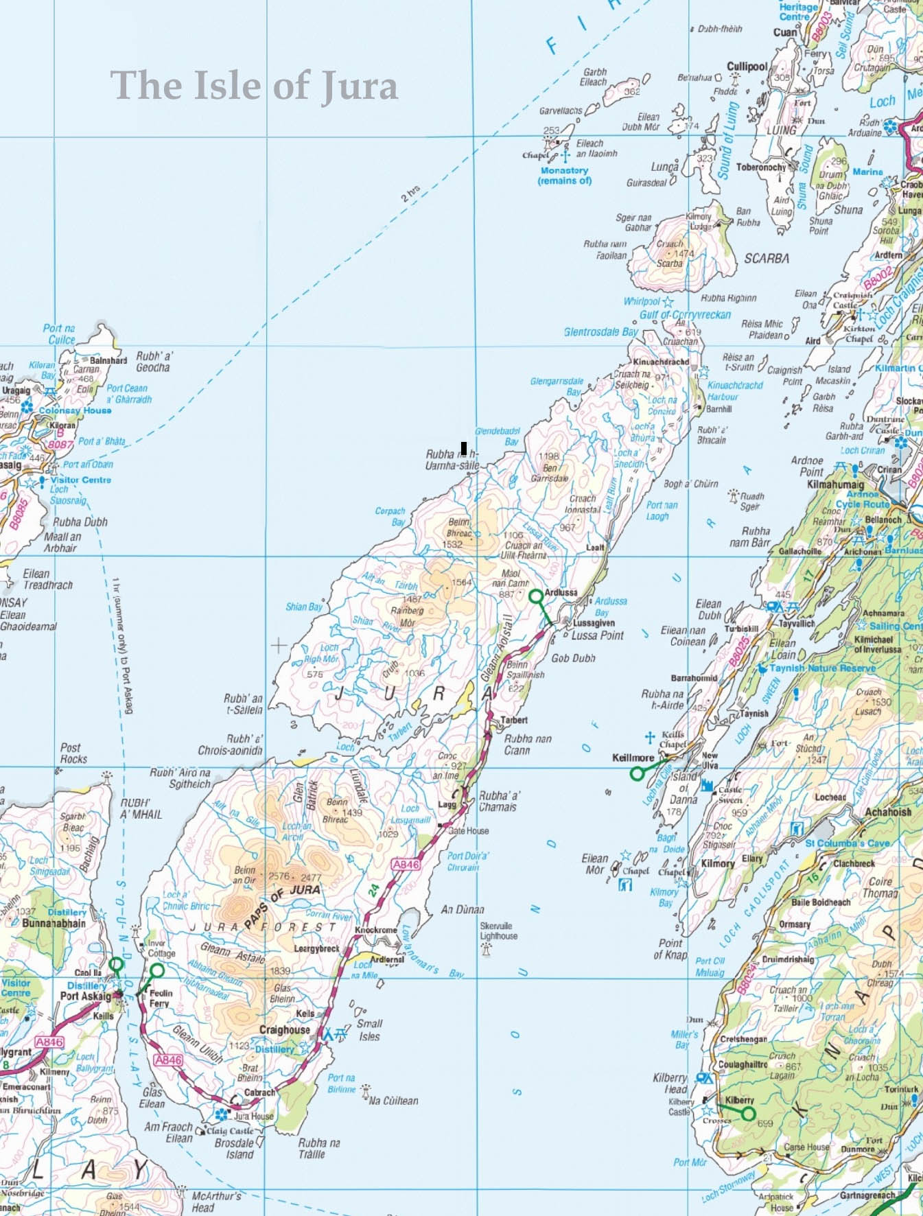 Isle of Jura Scotland Map
