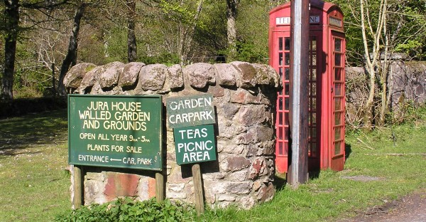 Signs at the Walled Garden