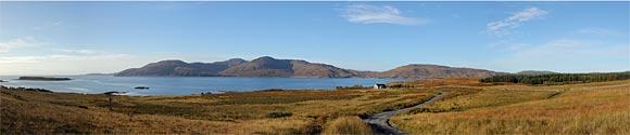South Jura Panorama Camas an Staca and Sound of Islay