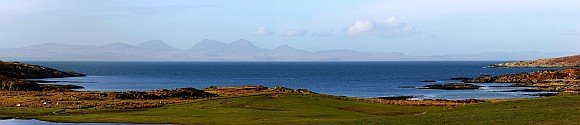 Isle of Jura seen from the Isle of Gigha Panorama Image