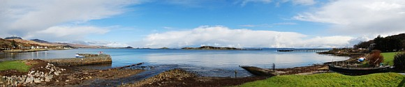 Jura Small Isles Bay Panorama