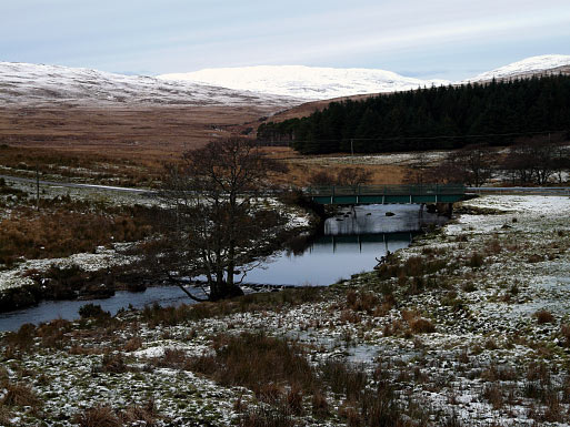Inverlussa Bridge in Winter