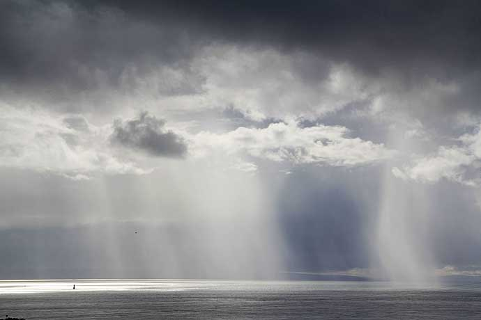 Close up of the Rain Shower