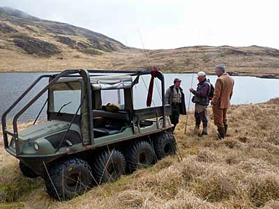 The ATV at Loch Bhurra
